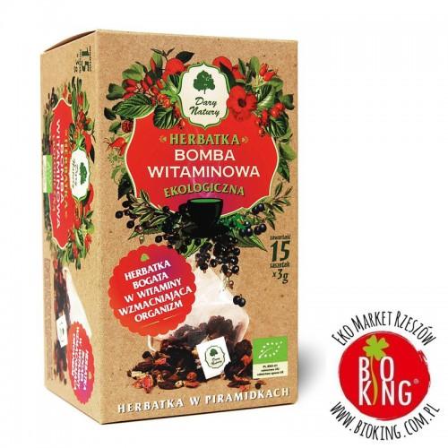 Herbatka ekologiczna Bomba Witaminowa piramidki Dary Natury