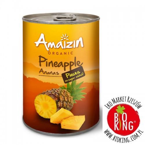 Ananas bio kawałki w soku własnym Amaizin