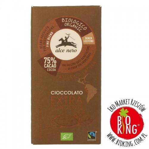 Czekolada gorzka 75 % fair trade bio Alce Nero