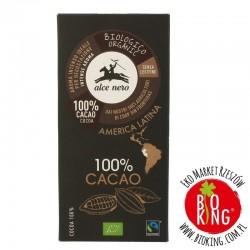 Tabliczka gorzka 100% kakao bio Alce Nero