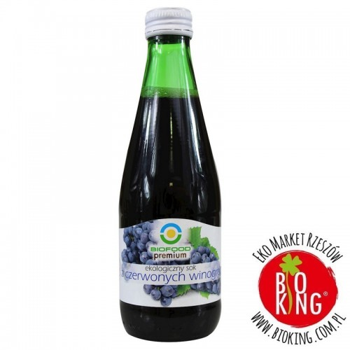 Sok z czerwonych winogron bio BioFood