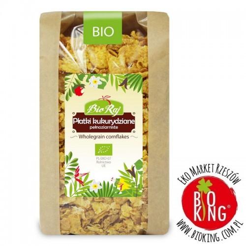 Płatki kukurydziane pełnoziarniste bio BioRaj