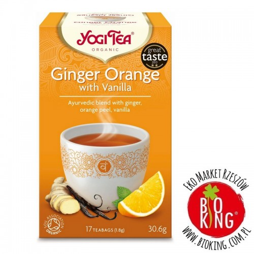 Herbatka imbirowo - pomarańczowa bio Yogi Tea