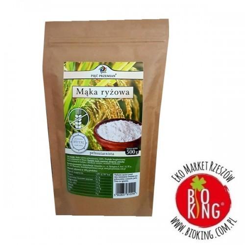Mąka ryżowa pełnoziarnista bezglutenowa Pięć Przemian