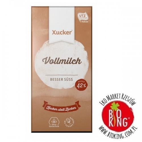 Czekolada mleczna z ksylitolem bez cukru Xucker