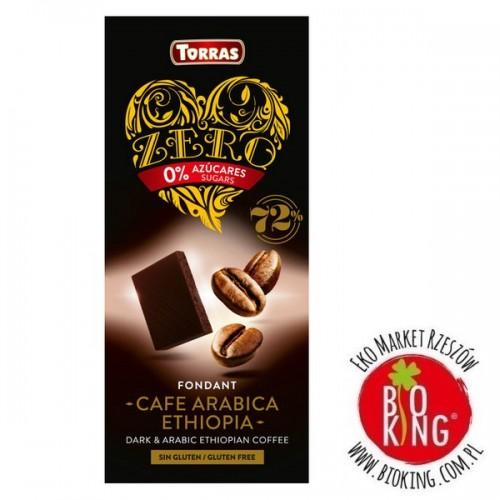 Czekolada gorzka 72% z kawą bez dodatku cukru Torras