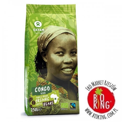 Kawa ziarnista arabica z okolic Jeziora Kivu fair trade Oxfam