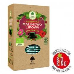 Herbatka lipowo-malinowa ekologiczna Dary Natury