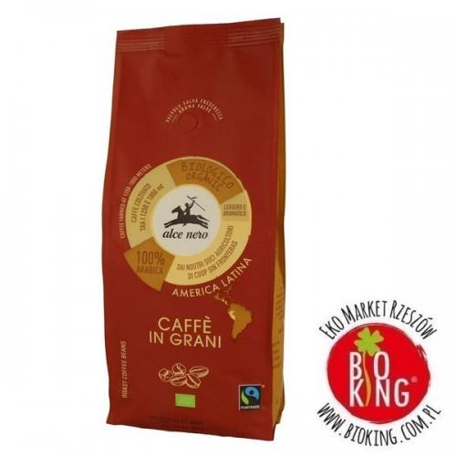 Kawa 100% arabica ziarnista bio fair trade Alce Nero