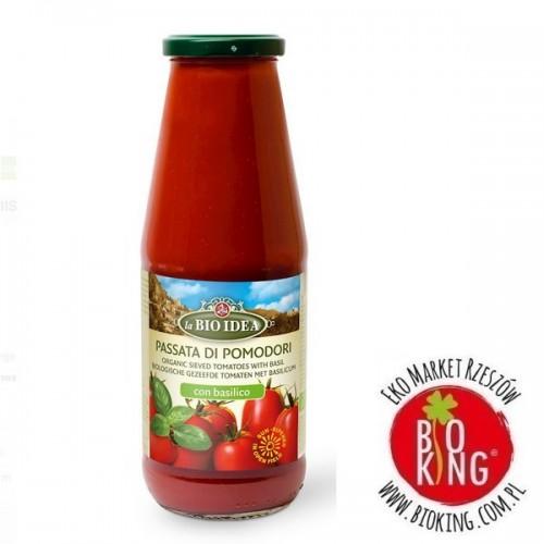 Przecier pomidorowy passata z bazylią bio La Bio Idea