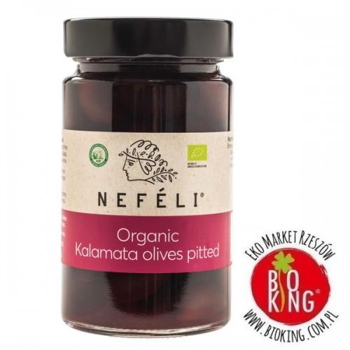 Oliwki czarne kalamata bez pestek w zalewie bio Nefeli