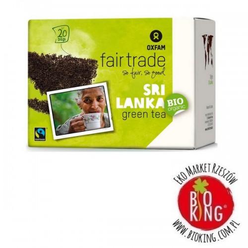 Herbata zielona expresowa fair trade bio Oxfam