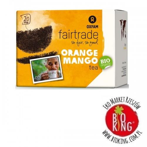 Herbata czarna o smaku mango - pomarańcza fair trade bio Oxfam