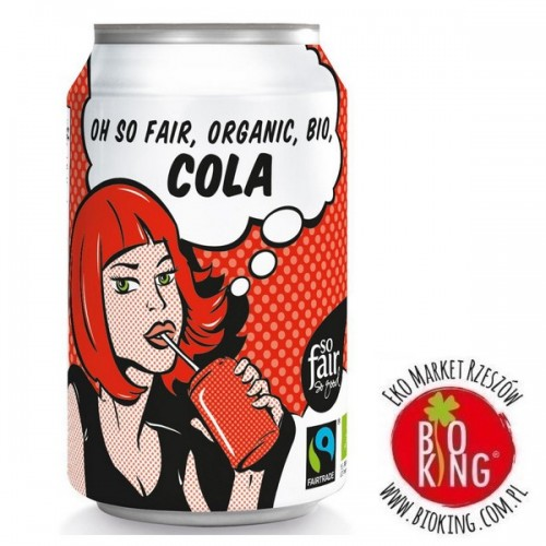 Napój gazowany o smaku cola bio fair trade Oxfam