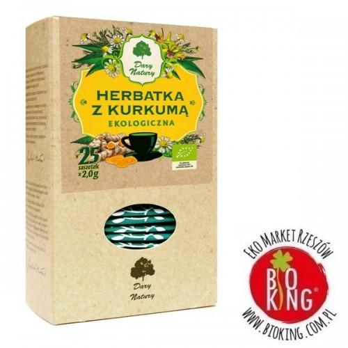 Ekologiczna herbatka z kurkumą bio Dary Natury