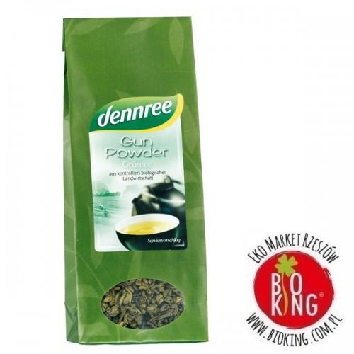 Herbata zielona liściasta bio Gun Powder Dennree