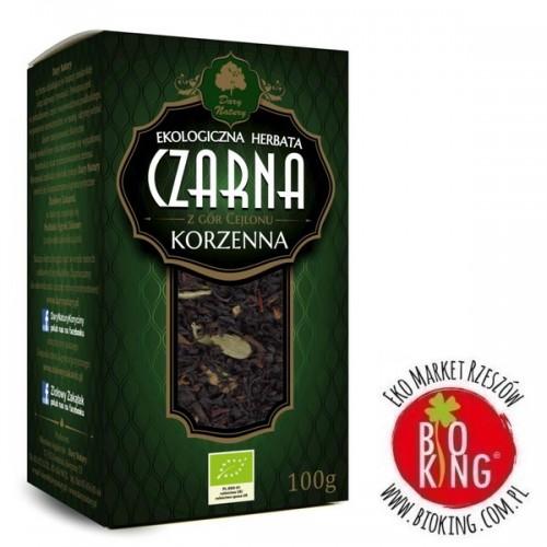 Herbata czarna korzenna liściasta bio Dary Natury