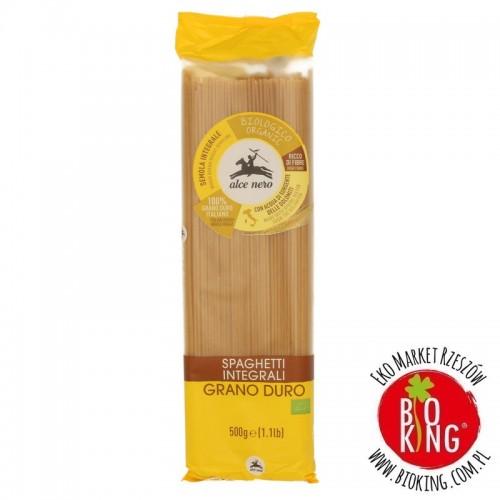 Makaron semolinowy razowy spaghetti bio Alce Nero