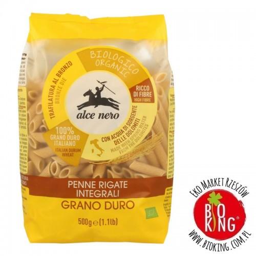 Makaron semolinowy razowy rurki bio Alce Nero