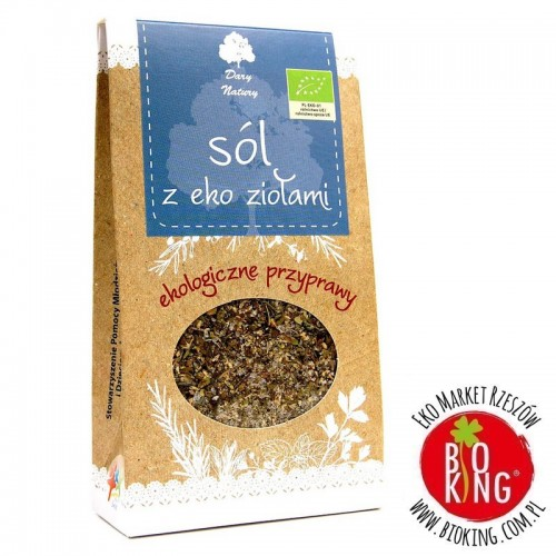 Sól z ekologicznymi ziołami Dary Natury