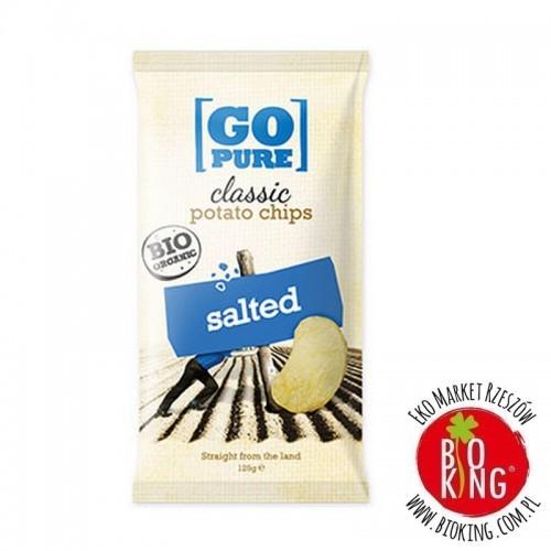Chipsy bez glutenu ziemniaczane solone Go Pure