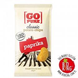 Chipsy bezglutenowe o smaku paprykowym bio Go Pure