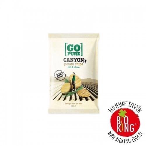 Chipsy bez glutenu z koperkiem i szczypiorkiem bio Go Pure