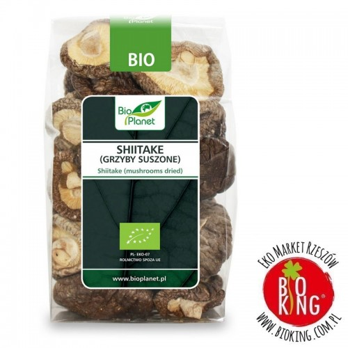 Grzyby suszone shiitake organiczne Bio Planet