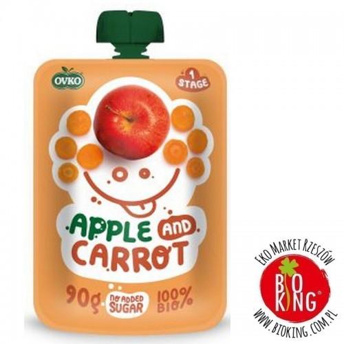 Przecier jabłko marchew po 6. miesiącu życia bio Ovko
