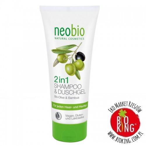 Szampon i żel 2w1 bio oliwka bambus Neobio