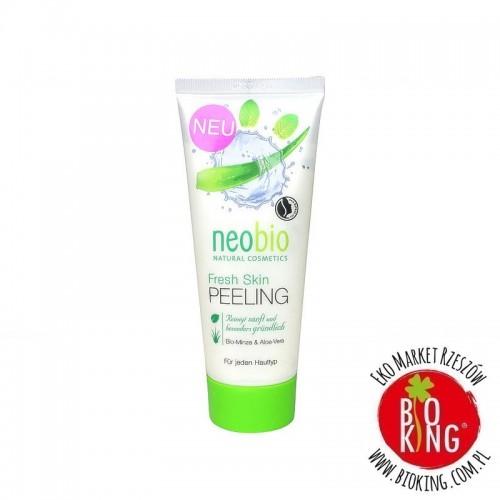 Peeling do twarzy z wyciągiem z mięty i aloesu bio Neobio