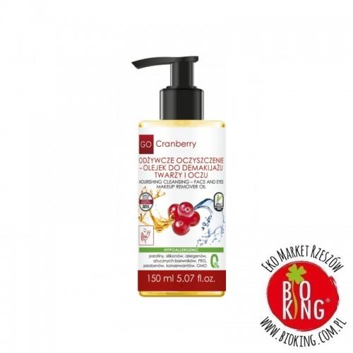 Odżywcze oczyszczenie olejek do demakijażu twarzy i oczu Go Cranberry