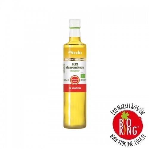 Olej słonecznikowy do smażenia tłoczony na zimno bio Olandia