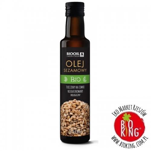 Olej sezamowy tłoczony na zimno bio Biooil