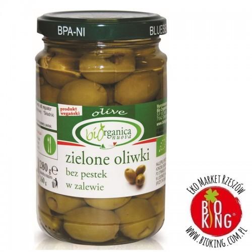 Oliwki zielone bez pestek w zalewie bio Bio Organica Italia