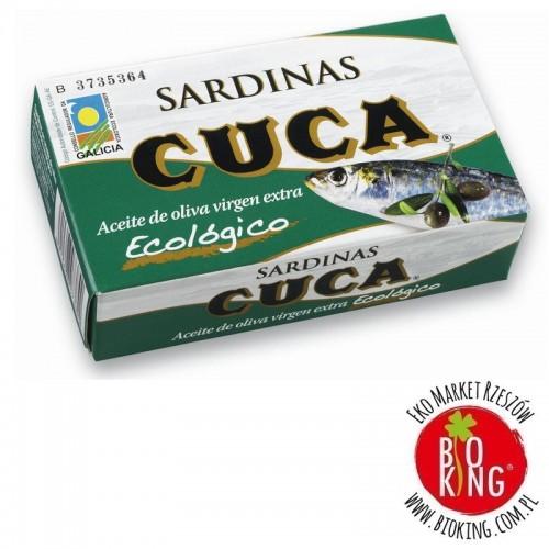 Sardynki w bio oliwie z oliwek Cuca