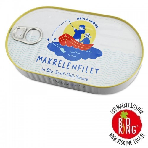 Makrela filet w bio sosie musztardowo-koperkowym