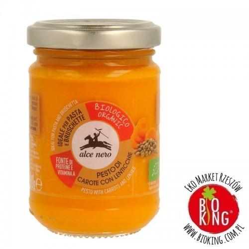 Pesto z marchewki i soczewicy bio Alce Nero