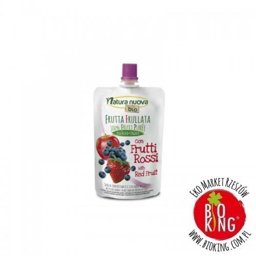 Przecier jabłkowy z czerwonymi owocami bio Natura Nuova