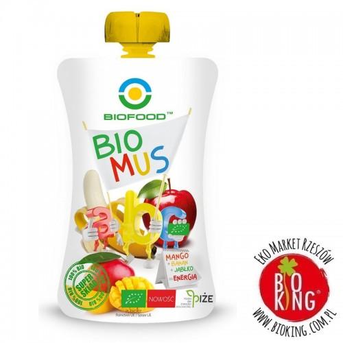 Mus mango banan jabłko bio Bio Food