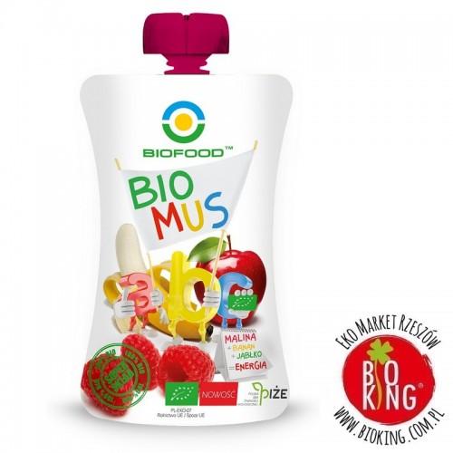 Mus malina banan jabłko bio Bio Food