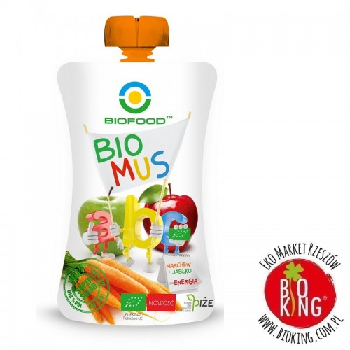 Mus marchwiowo-jabłkowy bio Bio Food