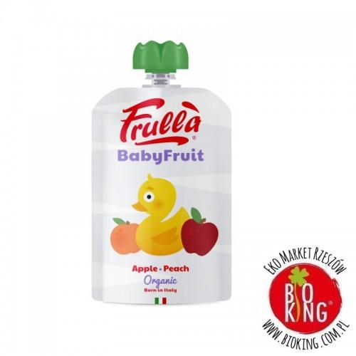 Przecier jabłko brzoskwinia bio bezglutenowy Natura Nuova