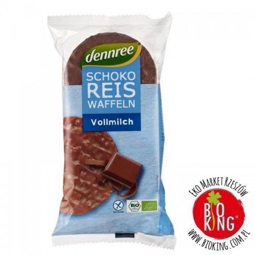 Wafle ryżowe z mleczną czekoladą bezglutenowe bio Dennree
