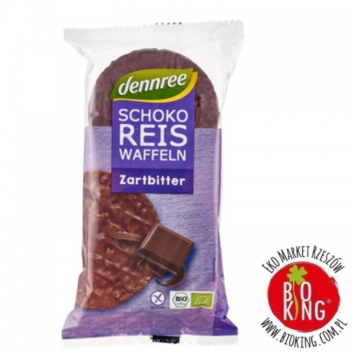 Wafle ryżowe z gorzką czekoladą bezglutenowe bio Dennree