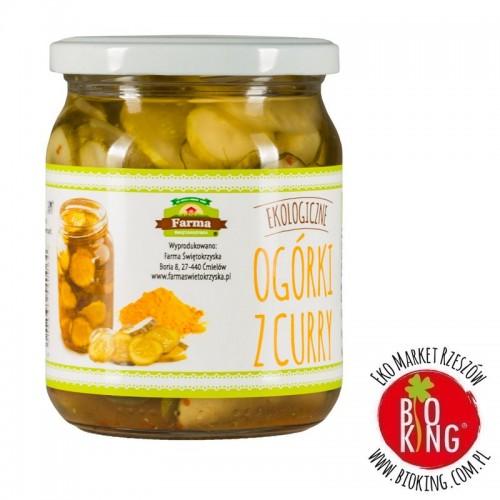 Ogórki z curry bezglutenowe bio Farma Świętokrzyska