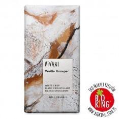 Czekolada biała z chrupiącym ryżem bio Vivani