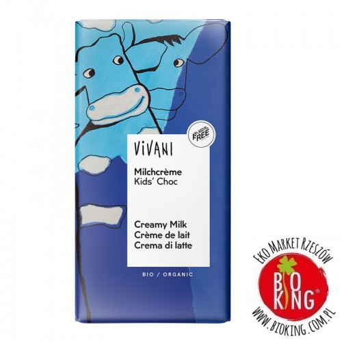 Czekolada mleczna dla dzieci bio Vivani