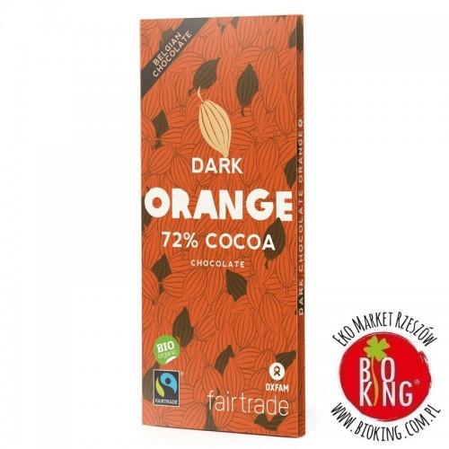 Czekolada gorzka z kawałkami pomarańczy fair trade bio Oxfam