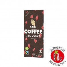Czekolada gorzka z kawałkami kawy fair trade bio Oxfam